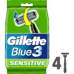 Blue III - Rasoirs jetables Sensitive pour homme