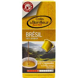 Le Bonifieur Capsules de café moulu Brésil les 10 capsules de 5 g