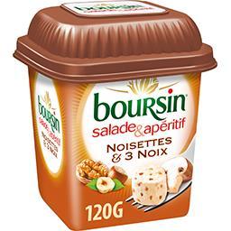 Boursin Boursin Salade & Apéritif - Bouchées fromagères noisettes & 3 noix la boite de 120 g
