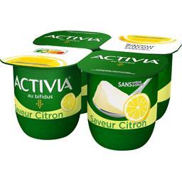 Danone Danone Activia - Lait fermenté saveur citron le 4 pots de 125 g