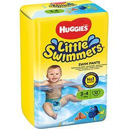 Huggies Huggies Little Walkers - Maillots de bain jetables taille 3/4 : 7-15 kg le paquet de 12