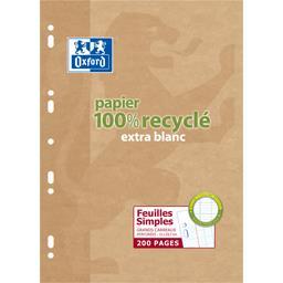 Oxford Oxford Feuillet mobile perforé A4 90 g Seyes le paquet de 200 pages