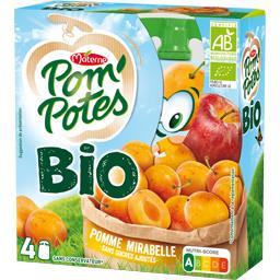 Materne Materne Pom'Potes BIO - Spécialité pomme mirabelle sans sucres ajoutés BIO les 4 gourdes de 90 g