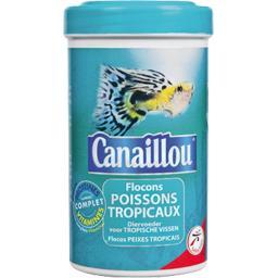 Aliment en flocons pour poissons tropicaux