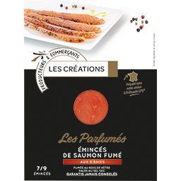 Les Parfumés Emincés de saumon fumé aux 5 baies