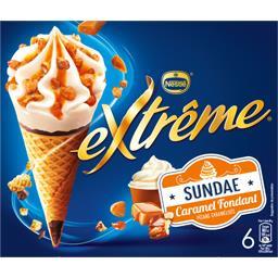Nestlé Extrême Cônes Sundae caramel fondant la boite de 6 - 396 g