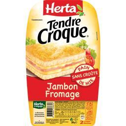 Tendre Croque - Croque-monsieur jambon fromage sans croûte
