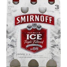 Ice, boisson alcoolisée aromatisée gazéifiée à base de vodka Smirnoff et de boisson fermentée