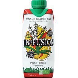 In Fusion In/Fusion Tisane glacée BIO pêche citron verveine la briquette de 330 ml