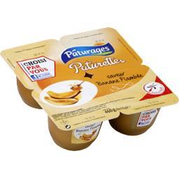 Paturette - Crème dessert saveur banane flambée