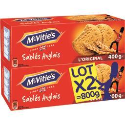 Mc Vitie's Sablés Anglais l'Original les 2 paquets de 400 g
