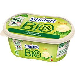 St Hubert Margarine BIO pour tartine et cuisine doux la barquette de 490 g