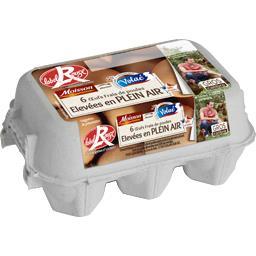 Œufs frais de poules élevées en plein air Label Roug...