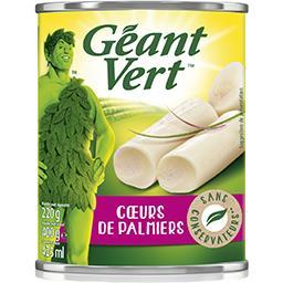 Géant Vert Géant Vert Cœur de palmiers la boite de 220 g net égoutté