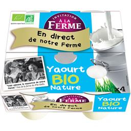 Yaourts Invitation a la Ferme Nature - 4x125g