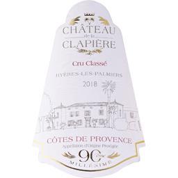 Côtes de Provence – Cru Classé Château de la Clapière vin Rosé 2017