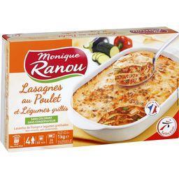 Lasagnes au poulet et légumes grillés