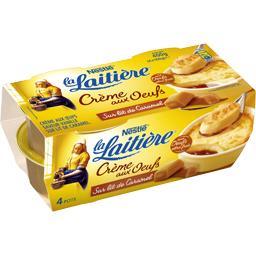 Nestlé La Laitière Crème aux œufs sur lit de caramel les 4 pots de 100 g