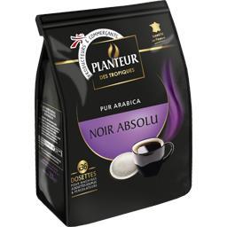 Café dosettes pur arabica Noir Absolu