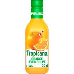 Tropicana Tropicana Pur jus d'orange avec pulpe la bouteille de 900 ml