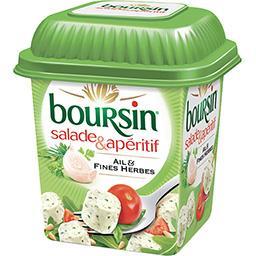 Boursin Boursin Salade & Apéritif - Bouchées fromagères ail & fines herbes la boite de 120 g