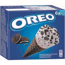 Oreo Oreo Glace cônes avec des morceaux de biscuit les 6 cônes de 110 ml