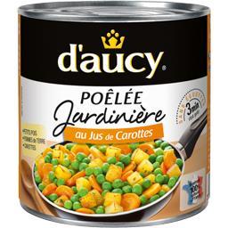 Poêlée Jardinière au jus de carottes