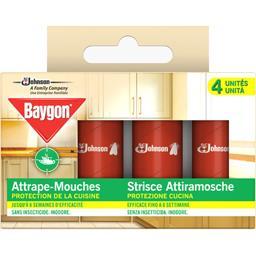 Baygon Baygon Ruban attrape-mouches 2 en 1 la boite de 4