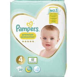 Pampers Premium protection - taille 4 9-14 kg - couches