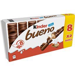 Kinder Kinder Bueno - Barres chocolatées fourrées lait et noisettes le paquet de 16 barres - 344 g