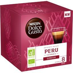 Dolce Gusto - Capsules de café Espresso Peru BIO