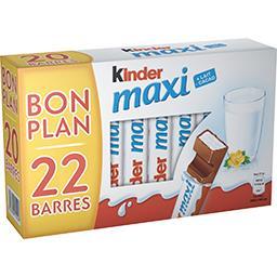 Kinder Kinder Barres chocolatées au lait  la boite de 22 barres - 462g