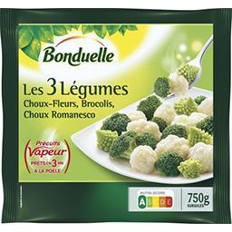 Précuit Vapeur - Mélange Les 3 légumes