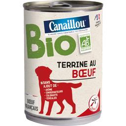 Terrine au bœuf BIO pour chien