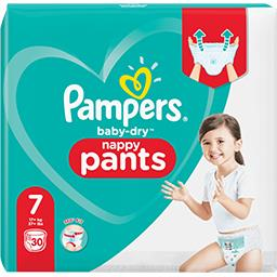 Pampers Pampers Couches-culottes baby-dry pants taille7, 17kg+ Le paquet de 30 couches