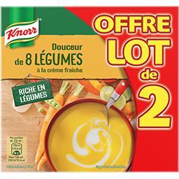 Knorr Knorr Soupe Douceur de 8 légumes à la crème fraîche les 2 briques de 50 cl