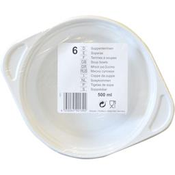 Assiettes creuses multi usages, PP rond 500 ml blanc