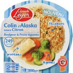 Colin d'Alaska sauce citron, boulgour & petits légumes