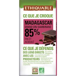 Ethiquable Ethiquable Chocolat noir 85% Madagascar BIO la tablette de 100 g