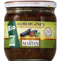 Aubergines bio cuisinées à la tomates & au basilic