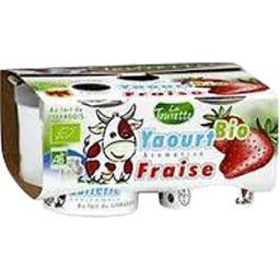 Yaourt BIO aromatisé fraise
