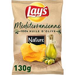 Lay's Lay's Chips méditerranéenne nature 100% huile d'olive le paquet de 130 g