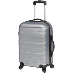 Valise Trolley 46 cm ABS gris