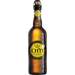 Ch'ti Ch'ti Bière de garde blonde la bouteille de 75 cl