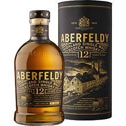 Aberfeldy Aberfeldy Highland Single Malt Scotch Whisky la bouteille de 70 cl + l'étui
