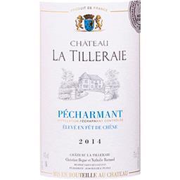 Pécharmant Château La Tilleraie vin Rouge 2014