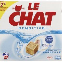 Lessive en poudre Sensitive savon de Marseille