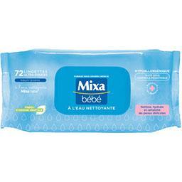 Mixa Mixa Bébé Lingettes ultra-fraîches à l'eau nettoyante le paquet de 72