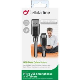 Câble spirale micro USB 2 m noir