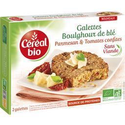 Galettes boulghour de blé parmesan & tomates confites BIO